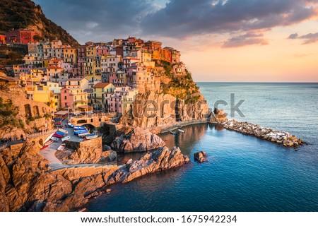 Manarola, Cinque Terre National Park, Liguria, Italy Royalty-Free Stock Photo #1675942234