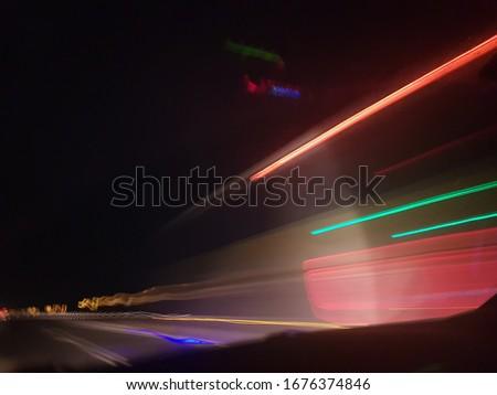 speed of light in slow shutter