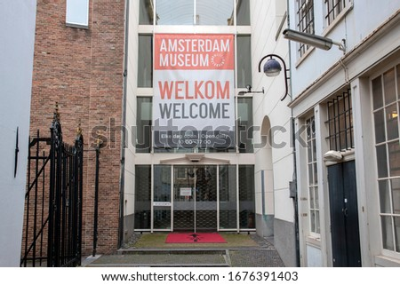 Closed Museum Of Amsterdam Due To The Coronavirus Outbreak At Amsterdam The Netherlands 2020 #1676391403