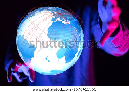 Global network and data exchanges over the world #1676415961