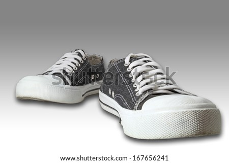 vintage black shoes isolated #167656241