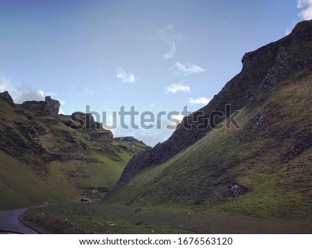 Road through a mountain pass #1676563120