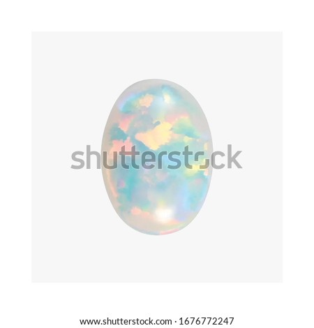 Diamond White Opal Cabochon Heart  Marquise Oval Pear Square