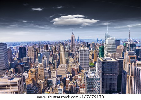 Beautiful view of  New York City skyline. #167679170