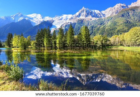 Swiss mountain and lake scenery