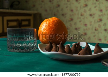 artistic image of vintage kitchen with feeling of little abundance modest scene of few resources in a home having an economic crisis