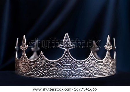 Vintage royal crown for man, jewellery. Concept of power and wealth #1677341665