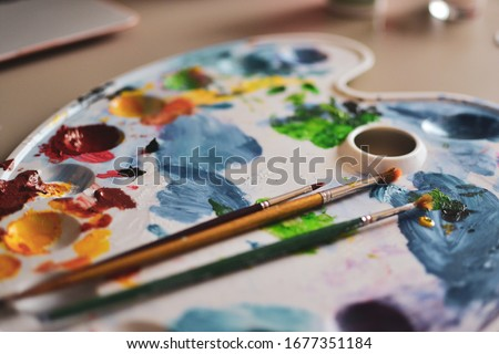 Paint Creativity Palette Artist Color Royalty-Free Stock Photo #1677351184