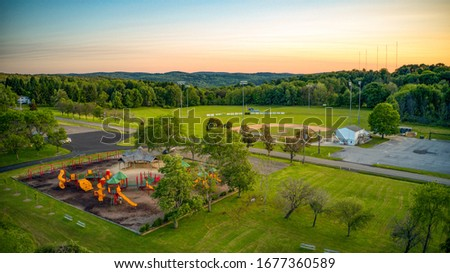 Arnold Park during the summer in Vestal, NY.  #1677360589