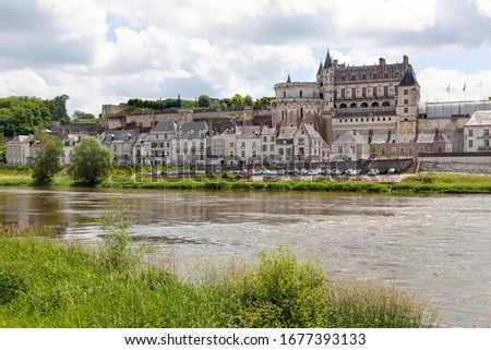 Castel of Amboise at the Loire river in France #1677393133