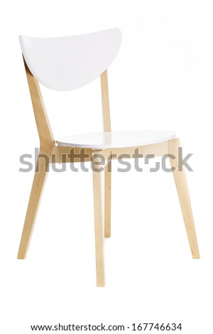 White chair isolated on white background #167746634