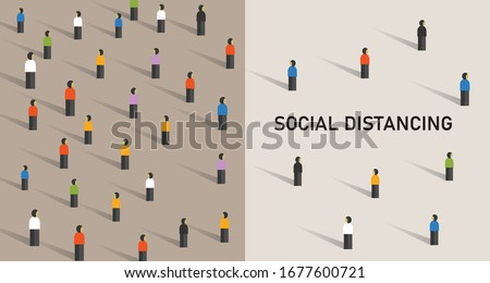 Social distancing prevention corona virus covid-19  Royalty-Free Stock Photo #1677600721