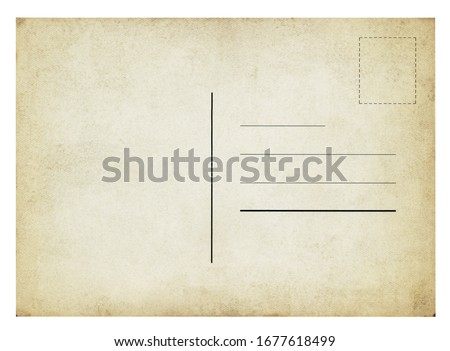 Vintage Postcard - isolated (clipping path included) Royalty-Free Stock Photo #1677618499