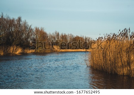 A wonderful View over the Este River - Jork - Germany #1677652495
