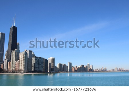Chicago abstract building art skyline