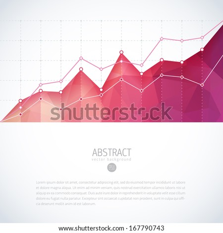 graph chart statistic vector growth finance data background invest financial editable partnership graph diagram graph with colorful shiny polygon template graph chart statistic vector growth finance d