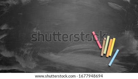 School board with colour chalk