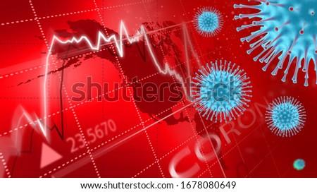 Coronavirus economic impact concept image. CoronaVirus Alert.  #1678080649