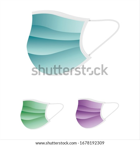 Protective medical face mask vector, vector illustration #1678192309