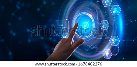 Business, Technology, Internet and network concept. BEST PRACTICE successful business concept.  Royalty-Free Stock Photo #1678402276