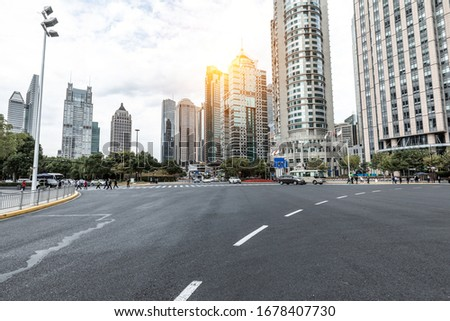 Modern urban landscape in Shanghai, China Royalty-Free Stock Photo #1678407730