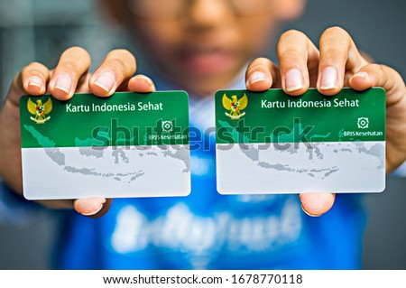 Jakarta, Indonesia : Indonesia Health Card is a card for Indonesian people to get health service from the hospital that guarantee by the government (03/2020) #1678770118