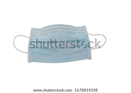 Protection respirator cloth  mask ,  Ecology, air pollution, Environmental ,Virus ,Dust and smoke  protection with small  isolated on white background #1678814338