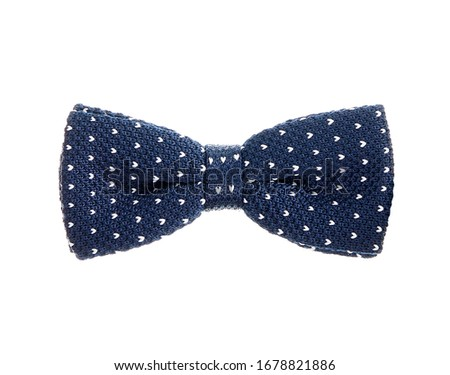 blue with white dots necktie #1678821886
