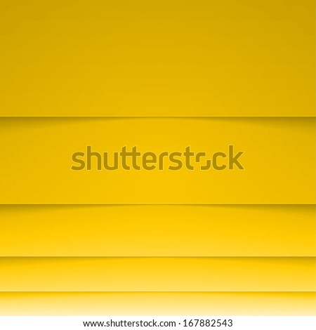 Abstract background with yellow paper layers #167882543