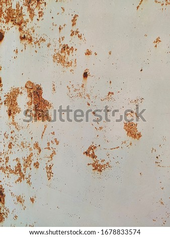 Corroded metal background. Rusty metal background with streaks of rust. Rust stains. Rystycorrosion. #1678833574