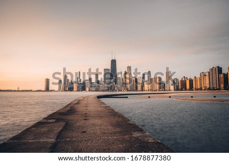 Sunrise photo taken at North Avenue Beach in Chicago, IL