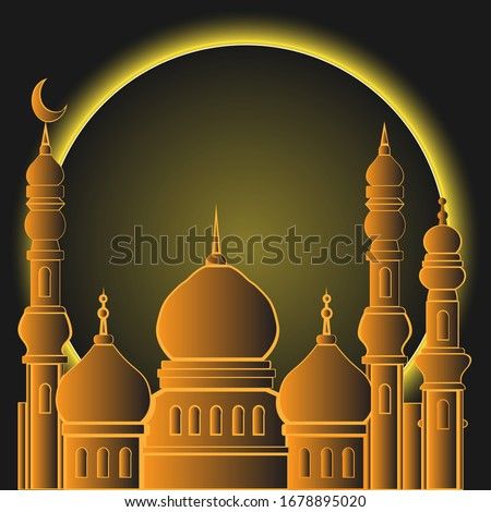 Ramadhan Kareem designs the moon and the mosque #1678895020