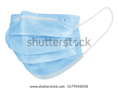 Medical mask isolated on white background, corona virus protection, covid-19, clipping path, full depth of field #1679046058