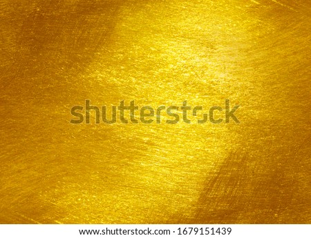 gold polished metal steel texture abstract background. #1679151439