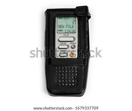 Dictaphone Digital Dictation Voice Recorder. Dictaphones. Digital Interviewing Microphone Recording Machine. DSS (Digital Speech Standard) Handheld Audio Recording Device. Work Path Included in JPEG