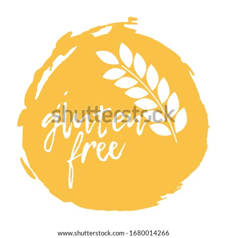 Gluten Free. Allergen food, Free products icon and logo. Intolerance and allergy food. Concept black and simple illustration and isolated art.