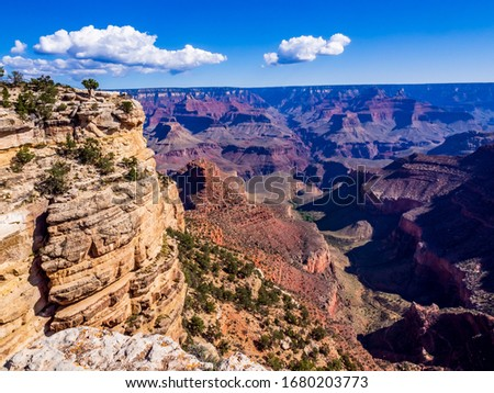 National parks usa southwest grand canyon labyrinth of rock cliffs, terraces, chasms and ravine drilled by Colorado River #1680203773