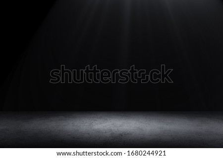 Dark Floor Background Black Empty Space for display your products, black Concrete Surface Ground Texture. #1680244921