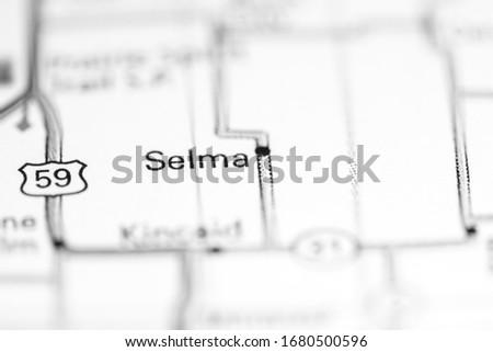 Selma. Kansas. USA on a geography map #1680500596