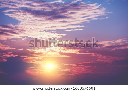 Colorful cloudy sky at sunset. Gradient color. Sky texture, abstract nature background #1680676501