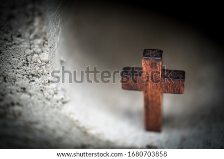 This is a picture symbolizing the image of the cross in the tomb to celebrate Easter.