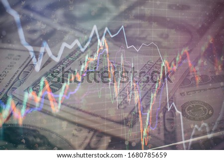 Falling stock markets, stocks for coronavirus , analysis for professional technical analysis on the monitor of a computer. #1680785659