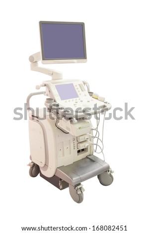 ultrasound apparatus under the white background #168082451