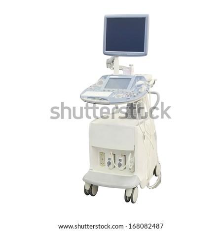 ultrasound apparatus under the white background #168082487