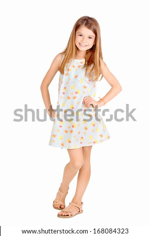 little girl isolated in white #168084323