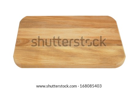 Cutting board isolated on white background #168085403