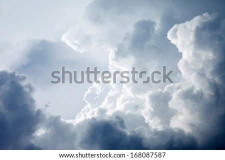 Dramatic sky with stormy clouds