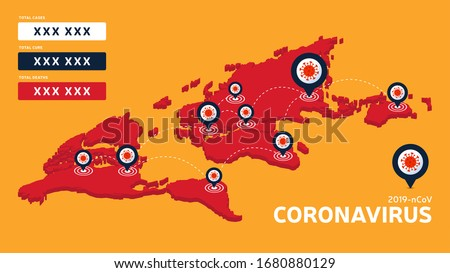 Covid-19, Covid 19 isometric world map confirmed cases, cure, deaths report worldwide globally. Coronavirus disease 2019 situation update worldwide. Maps show situation and stats background #1680880129