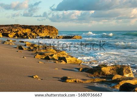 Sunrise at beach in Jupiter, Florida