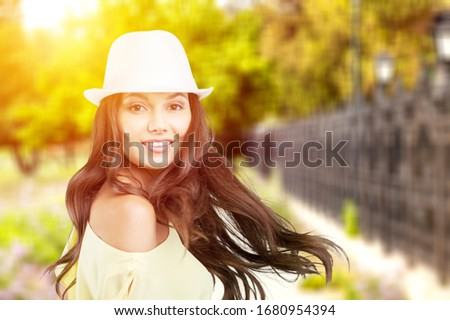 Portrait of sensual attractive woman in a hat #1680954394